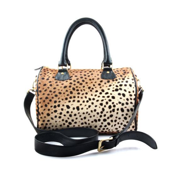 leopard duffel